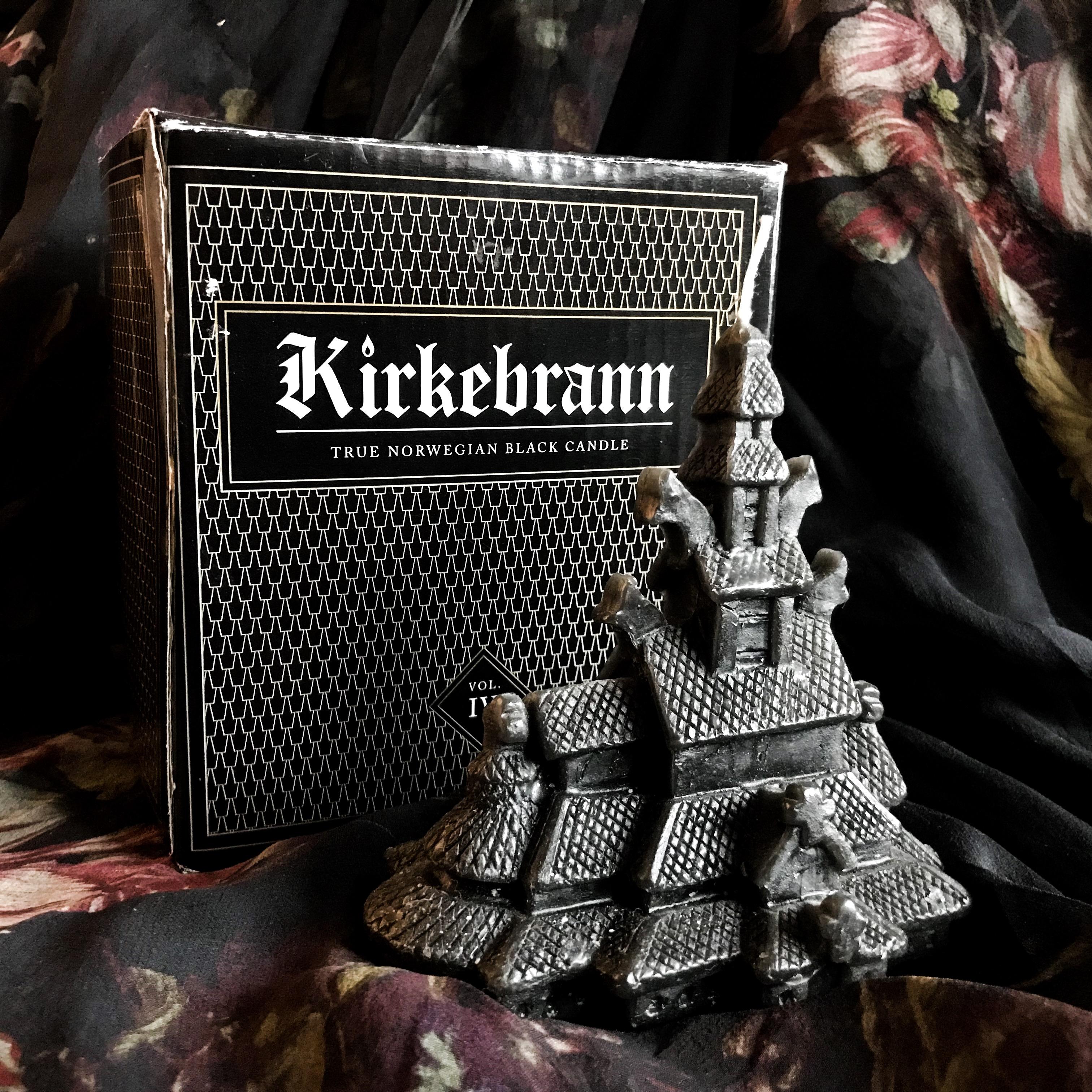 Kirkebrann True Norwegian Black Candle