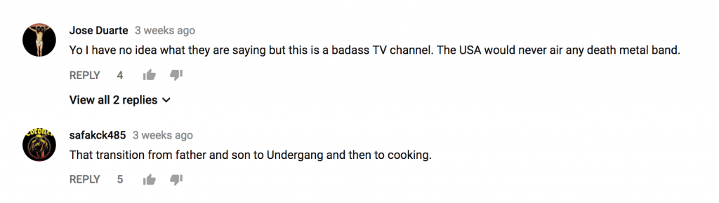 Undergang comments