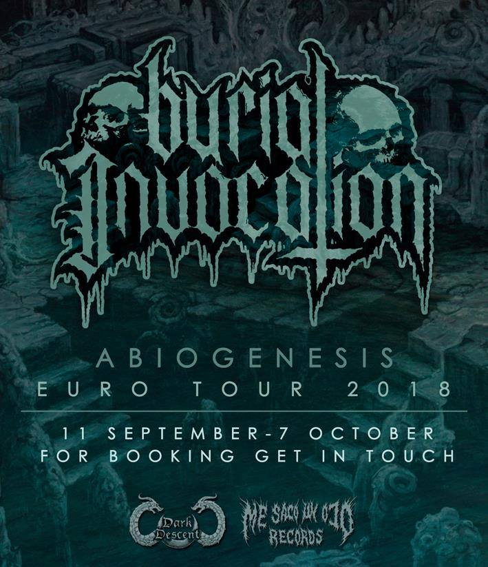 Burial Invocation 2018 bookings