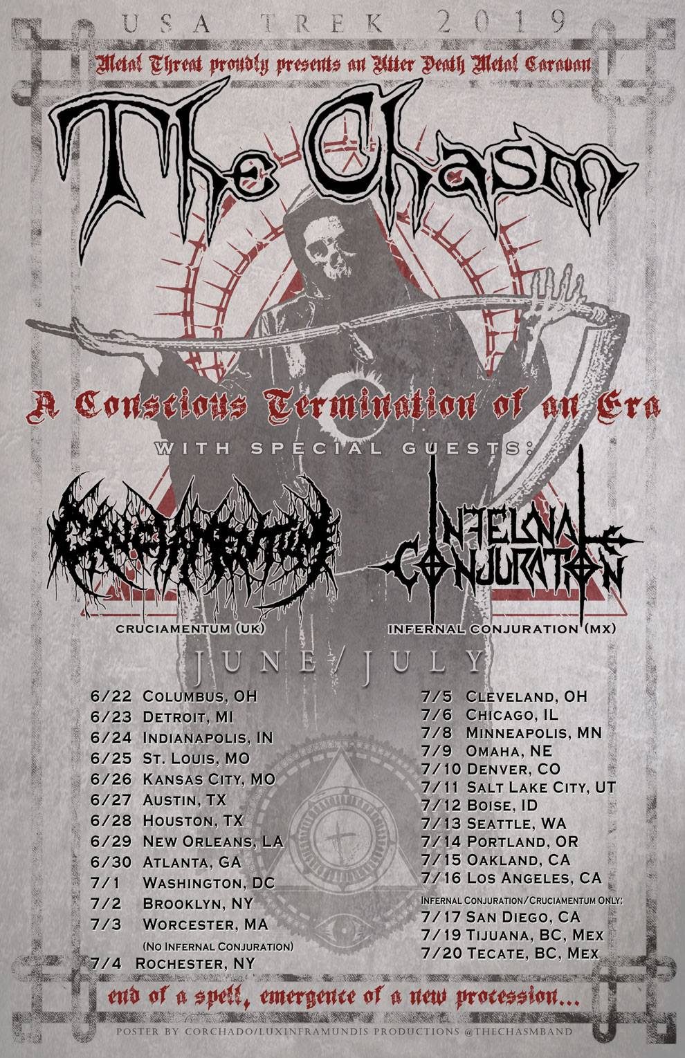 """A Conscious Termination of an Era"" tour"