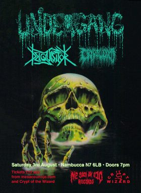Undergang, Deiquisitor & Cryptworm in London flyer