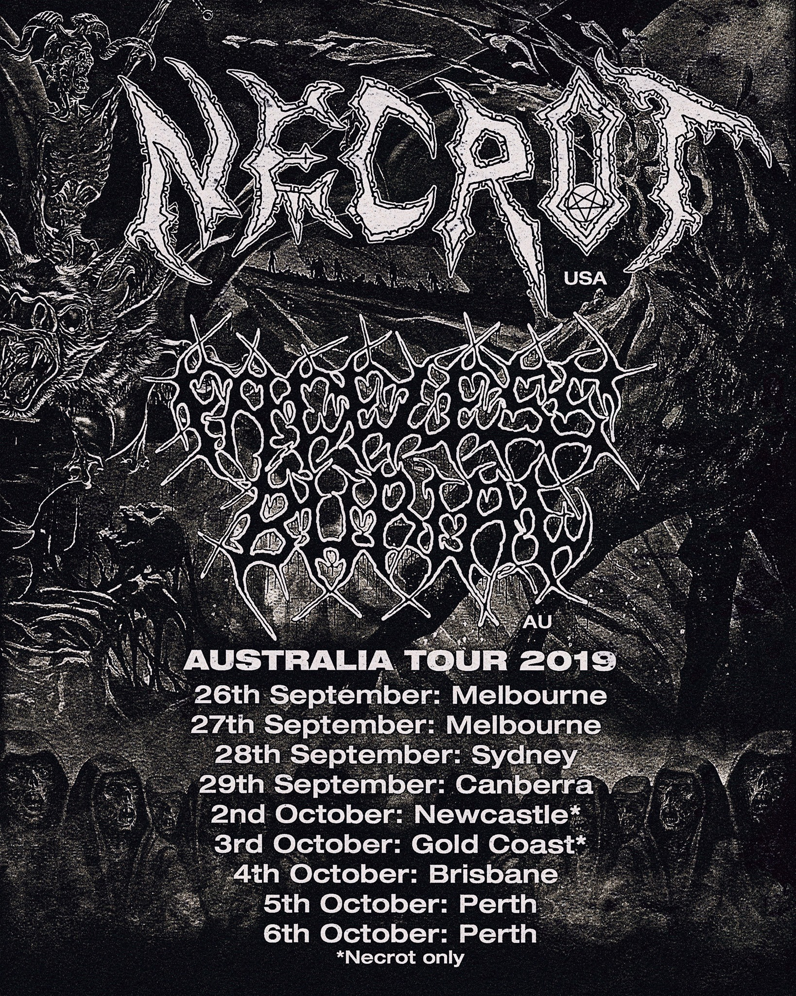 Necrot / Faceless Burial Australian Tour 2019