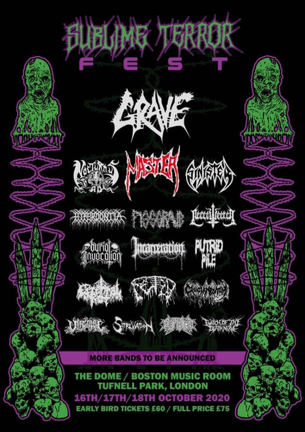 Sublime Terror Fest 2020 flyer
