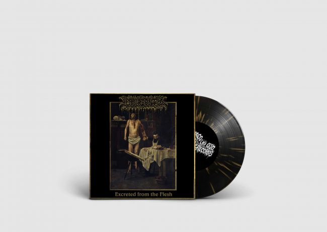 Hyperdontia Excreted From the Fleck 7inch gold black splatter vinyl