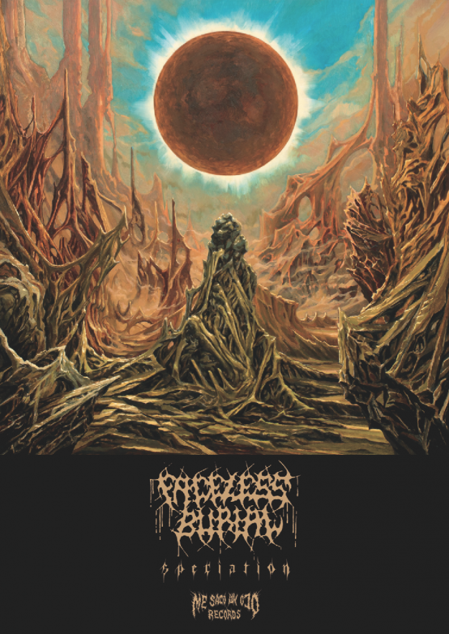 Faceless Burial 'Speciation' poster for limited edition vinyl