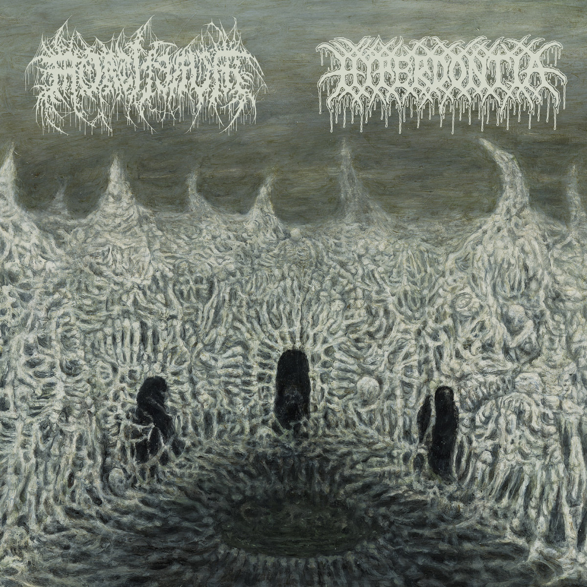 Hyperdontia and Mortiferum split 7'' cover art