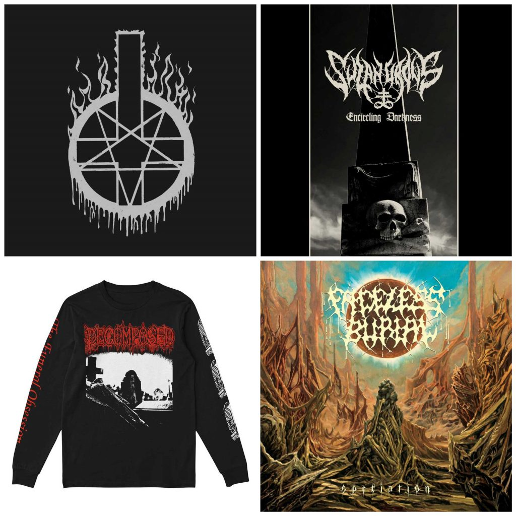 Decomposed, Sulphurous and Faceless Burial pre-order